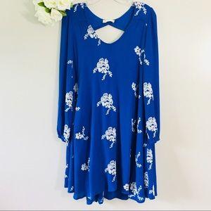 Altar'd State Blue Embroidered Boho Dress